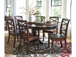 ashley furniture porter 7 piece round dining table set household