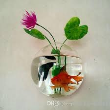hanging wall glass planter flower vase glass fish tank for indoor
