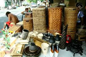 wooden home decor and baskets sold at stores in dapitan arcade