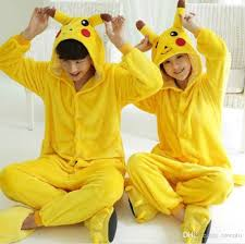 Pikachu Costume Wholesale Pikachu Pajamas Fashion Cosplay Costume Hoody