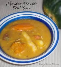 jamaican pumpkin beef soup recipe beef soups frugal and caribbean