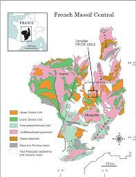 Map Of Clermont Florida by Simpli Fi Ed Geological Map Of The French Massif Central Modi Fi