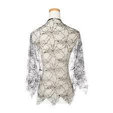 halloween black lace spider web cape claire u0027s