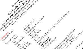 form daftar riwayat hidup pdf 10 contoh cv lamaran kerja pilihan terbaik menarik kreatif doc file