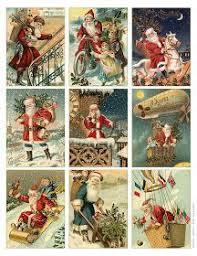 free to download printable vintage santa tags or cards free