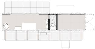 Shipping Container Floor Plans by Shipping Container Guest House By Jim Poteet Architecture U0026 Design