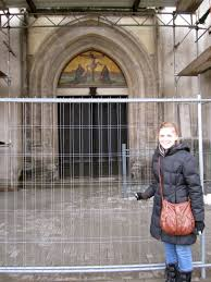 martin luther 95 thesis martin luther the road to morocco me with the famous doors of castle church the doors have been since replaced with