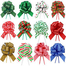 gift wrap bows 24 pieces christmas gift wrap ribbon pull bows 5 wide easy and