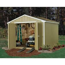 handy home products princeton 10 ft x 10 ft wood storage shed with