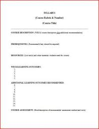 ate central curriculum syllabus template
