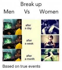 Breakup Memes - break up memes men vs women weneedfun