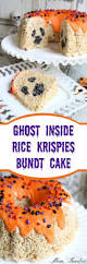 ghost inside rice krispies bundt cake halloween treats
