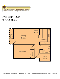 One Bedroom Floor Plan Fairbanks Alaska Apartments Parkwest Apartments One Bedroom