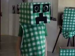 creeper costume how to make your own minecraft creeper costume part 2