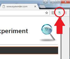 right top corner eyewnder web advertisements analyzer