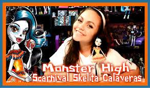 monster high skelita halloween costume monster high scarnival skelita calaveras doll review