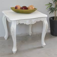 carved wood end table square carved wood end table in white 3962 aw