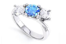 aquamarine wedding rings engagement rings with a blue sapphire topaz aquamarine