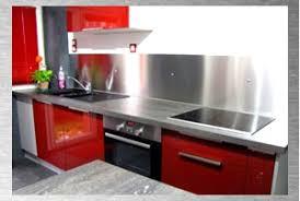 plaque aluminium pour cuisine alu pour cuisine 13 avec mur 1 fixer au les meubles sous la fentre
