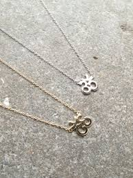 sterling gold necklace images Sterling gold or silver om necklace bobbles and lace jpg