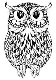 owl mandala coloring page paginone biz