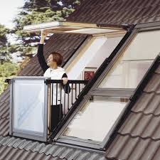 roof window turns into instant balcony in seconds balconies