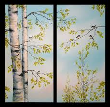 a demonstration of how i paint birch trees in 2
