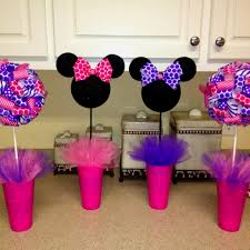 Centerpieces For Minnie Mouse Party by Centerpieces