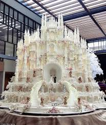 fairy tale happily ever after castle wedding cake princess