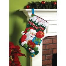 100 seasonal home decorations bucilla seasonal felt mary maxim ho ho ho christmas stocking felt kit christmas