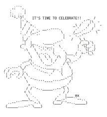 happy thanksgiving in ascii text ascii