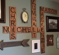 family wood scrabble wall crafty morning