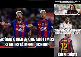 Ochoa Memes - memes del barcelona granada la emprenden con cristiano y memo