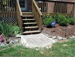 Stone Patio Diy by Pickles And Cheese Diy Stone Patio Landing