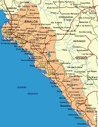 sinaloa mexico map sinaloa is a state in nw mexico and is stretched along the coast
