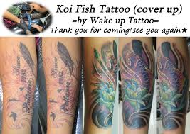 koi fish tattoo on arm phuket tattoo wake up tattoo koi fish tattoo cover up phuket
