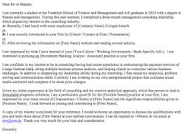 cover letter consulting graduate