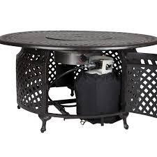 Fire Sense Hammer Tone Bronze Commercial Patio Heater by Venza 48 Inch Propane Gas Fire Pit Table By Fire Sense Antique