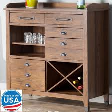 rustic sideboard storage cabinet kitchen wine rack buffet server