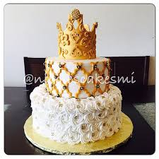 white and gold baby shower gold black white royal baby shower cake iced in buttercream