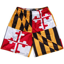 Black Red And Yellow Flag Maryland Flag Quads Yellow And Red Lacrosse Shorts By Tribe