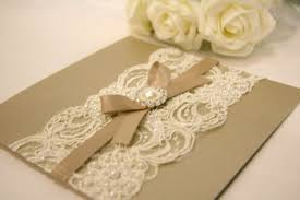 Lace Wedding Invitations Wedding Invitation Cards With Lace Cherry Marry