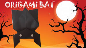 origami bat tutorial origami halloween youtube
