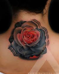 dark rose neck tattoo best tattoo design ideas