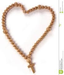 free rosary chaplet or rosary heart shape stock photo image 22254368