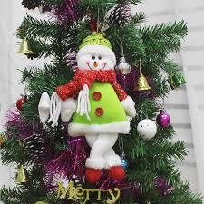 new year gifts santa claus snowman dolls pendants tree