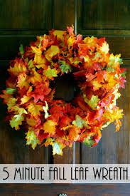 fall wreath a quick and easy idea fall leaves front doors and