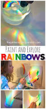 make explore and paint rainbows use a cd and sunlight or a