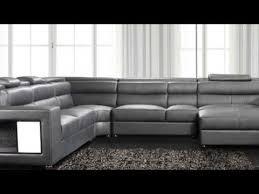 Polaris Sofa Polaris Contemporary All Black Leather Sectional Sofa Youtube