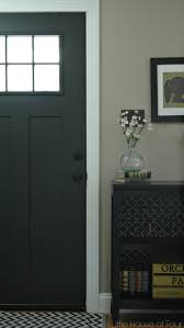 House Doors Exterior by Updating The Entryway With Sherwin Williams Iron Ore Iron Front